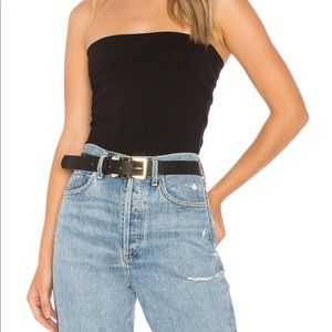 EUC Aritzia Talula black stretch tube top